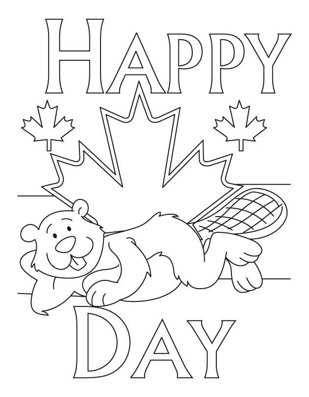 canada day coloring pages - photo#5