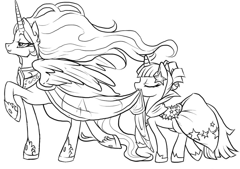 princess horse coloring pages - photo#23