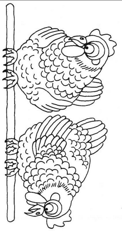 Chickens Coloring Page 6 Coloring Kids