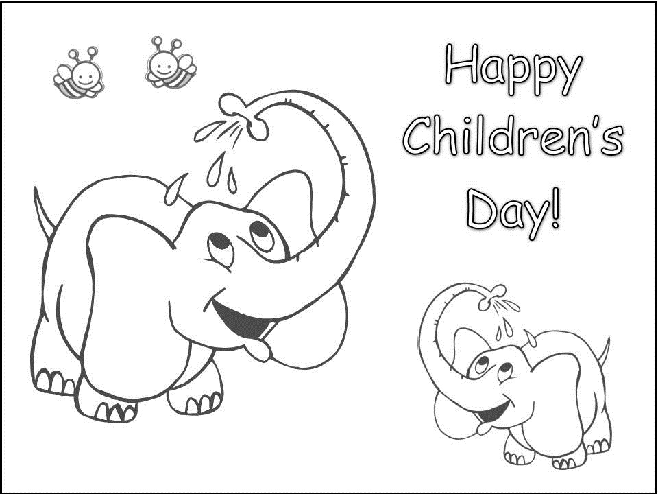 childrens day coloring pages - Coloring Pictures Of Children