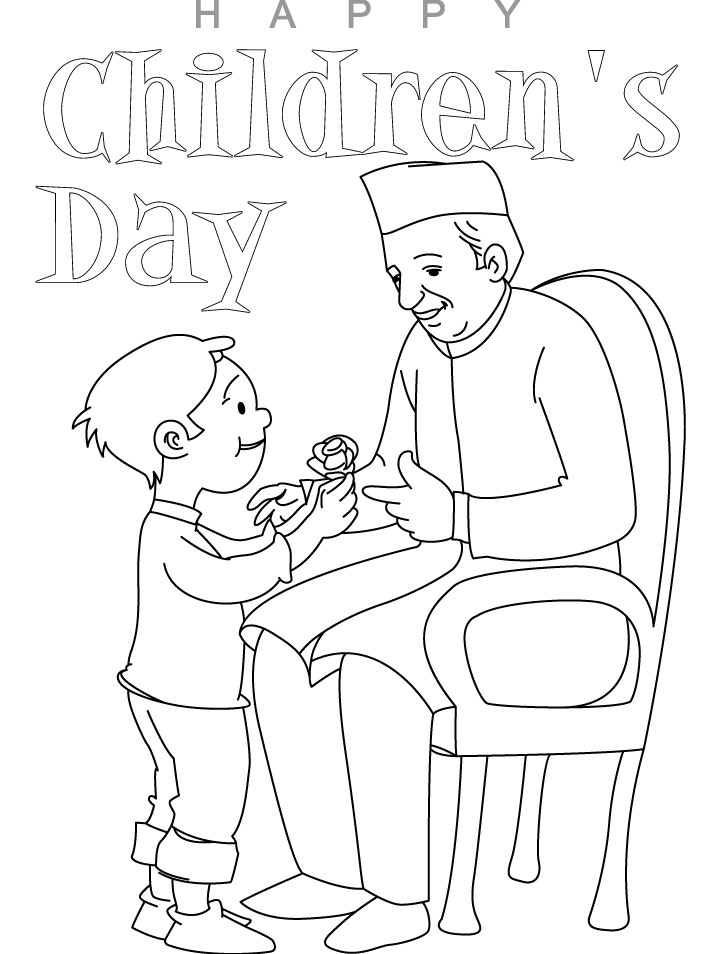 Coloring Pages For Children S Day : Childrens day coloring pages kids