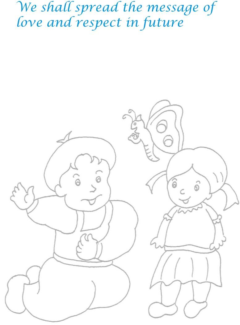 Childrens day colouring pages - Childrens Day Coloring Pages
