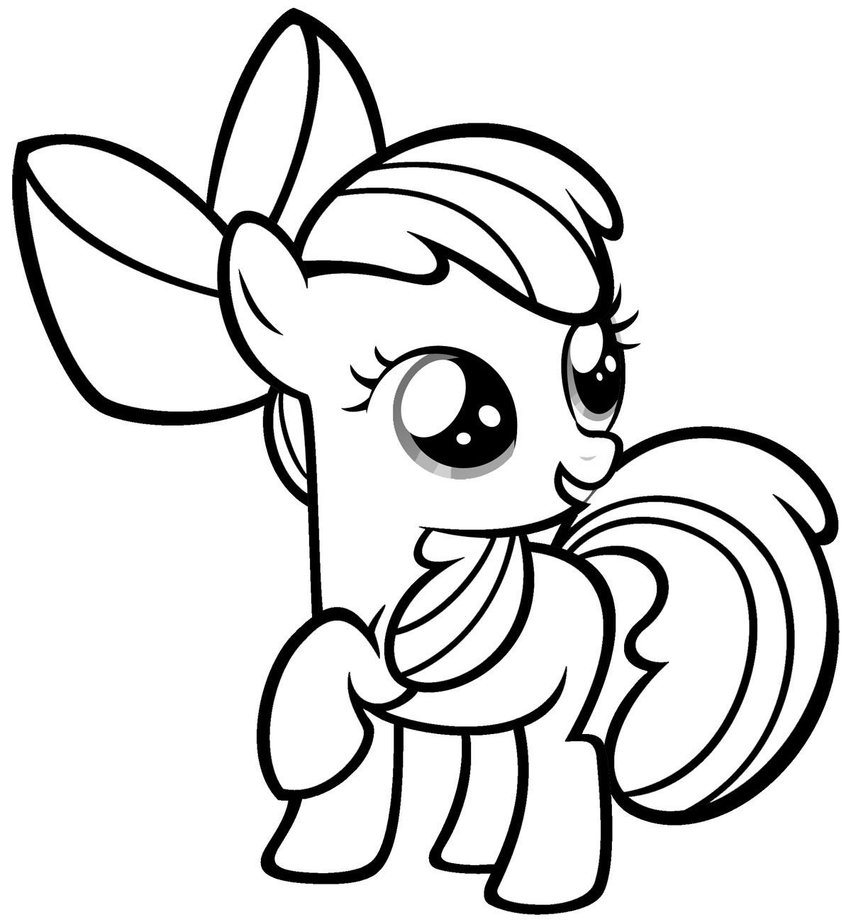 Mlp Coloring Pages Free Printable My Little Pony Coloring Pages For Kids  Coloring Kids