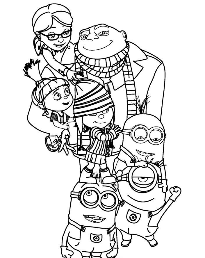 Despicable Me Coloring Books Coloring Book of Coloring Page