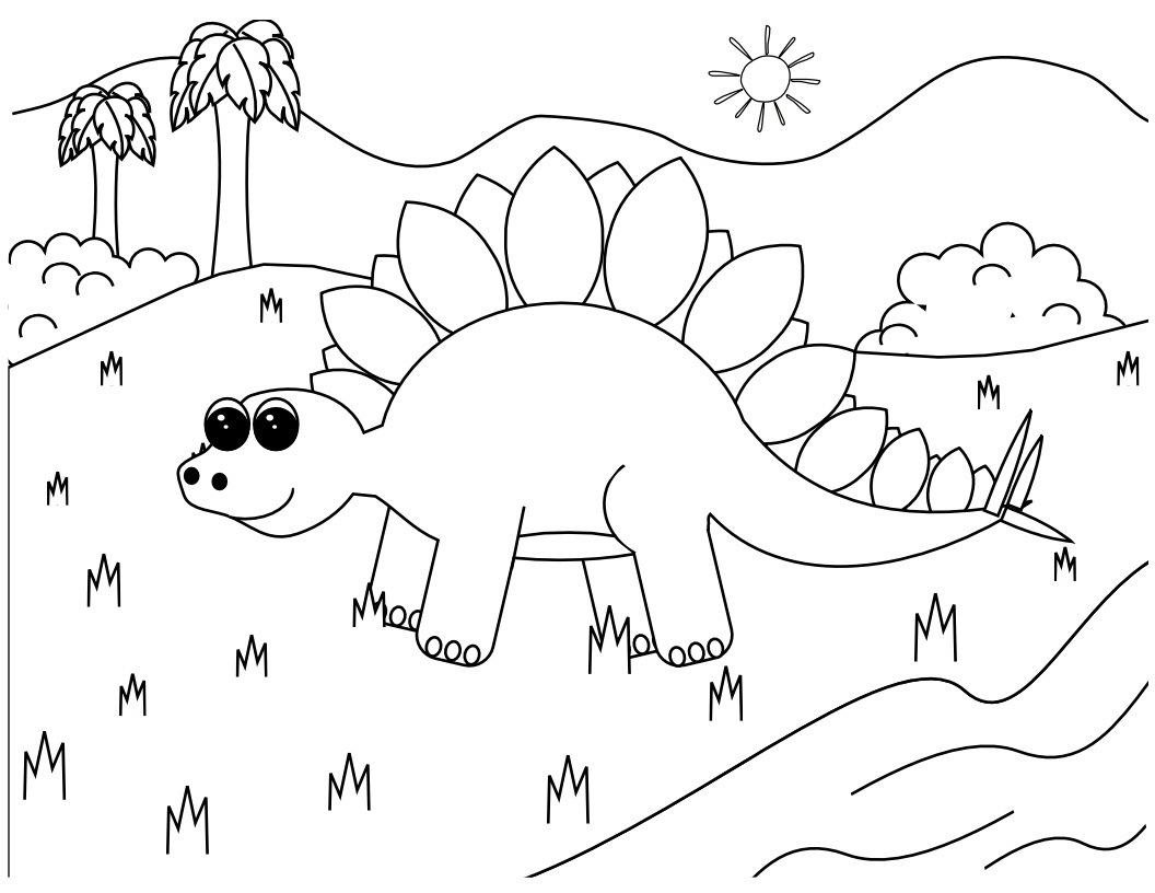 Dinosaur Coloring Pages 2 Coloring Kids