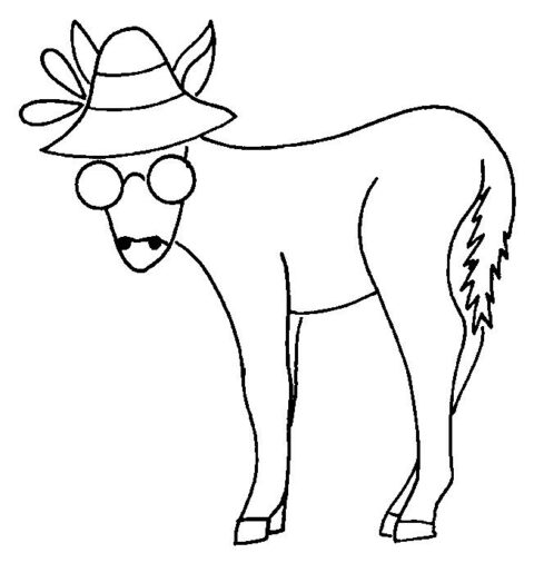 Donkeys-coloring-page-4