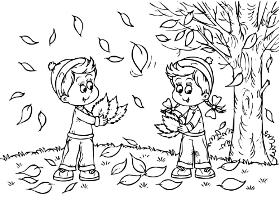 Fall Coloring Pages For Kids To Print