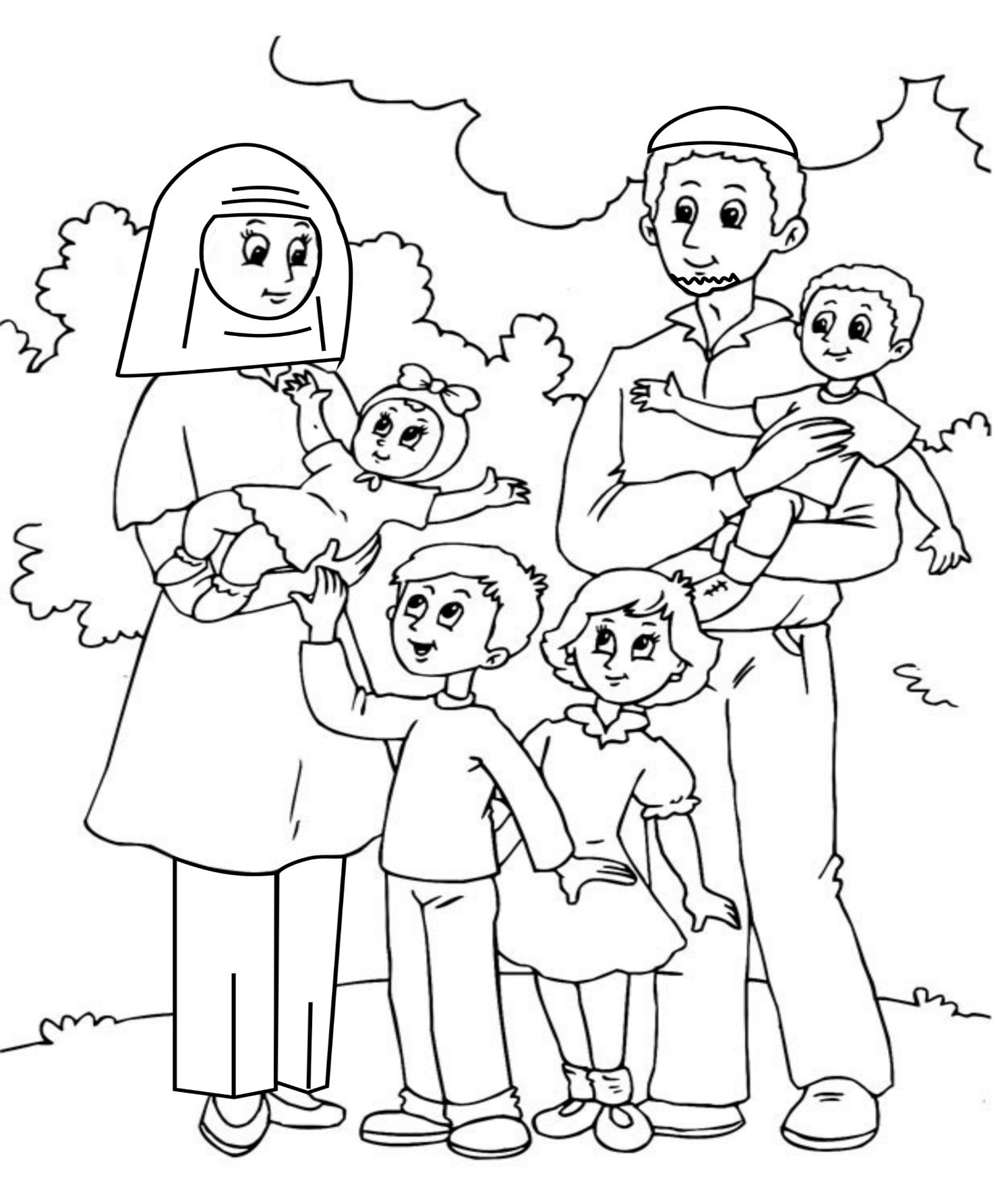 children coloring pages of families - photo#22