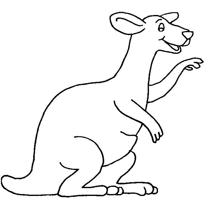 Kangaroos-coloring-page-7 | Coloring Kids