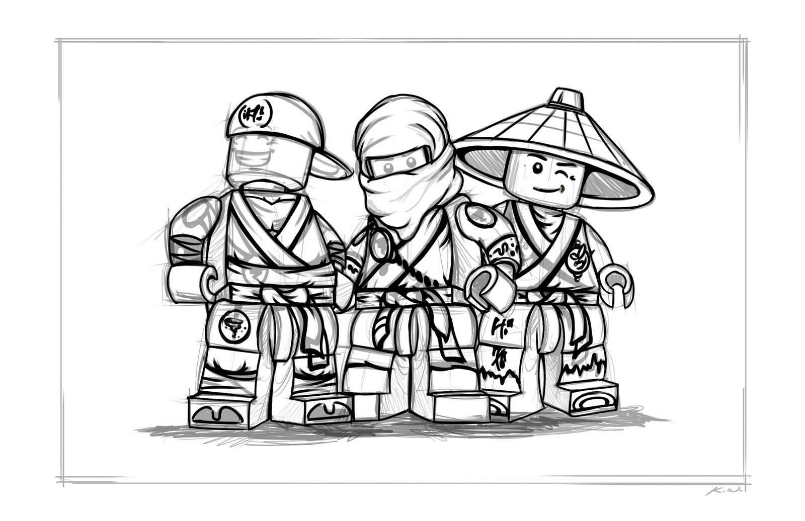 download lego ninjago coloring pages