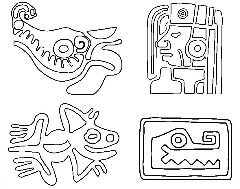 Mayan Civilization Coloring Page 4 Coloring Kids