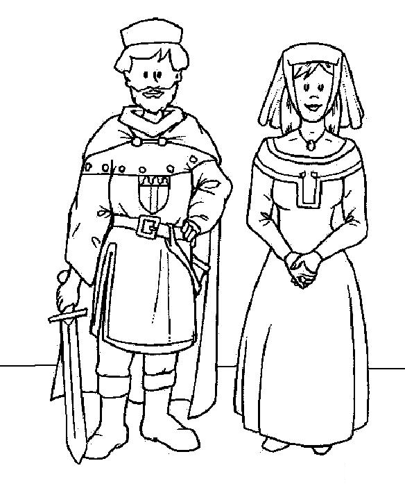 Middle Ages Coloring Page 10 Coloring Kids