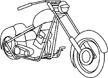 Motorcycle Coloring Page Classic Road