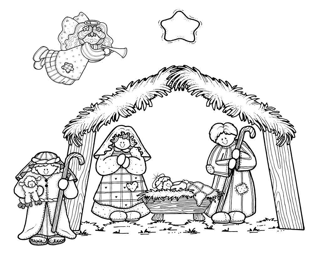 Nativity Coloring Pages - Coloring Kids