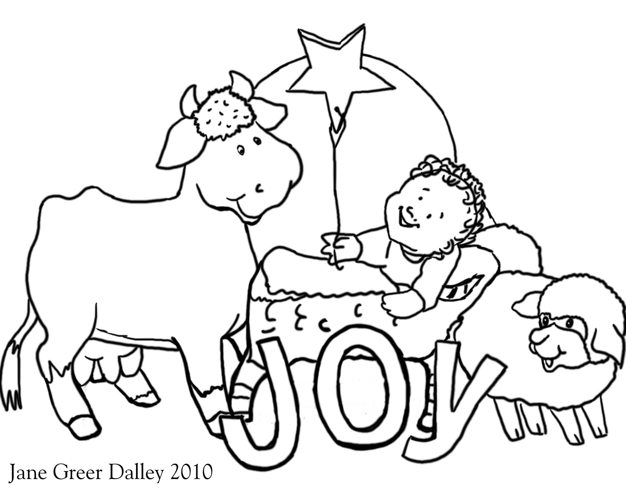 nativity christmas card coloring pages for kids