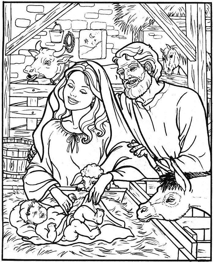 free christmas nativity coloring pages - photo#33