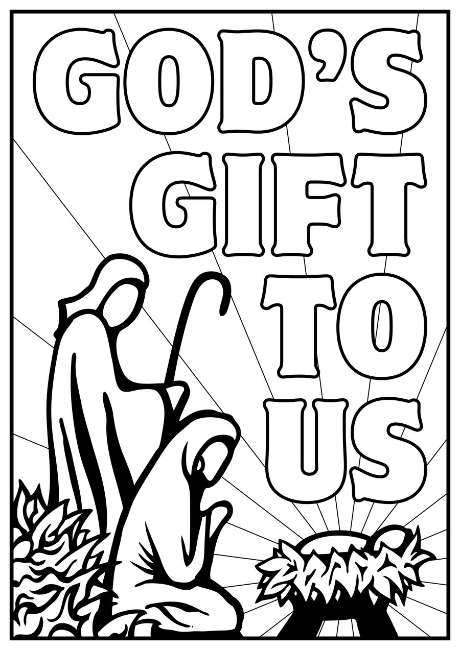 nativity coloring pages free - photo#33