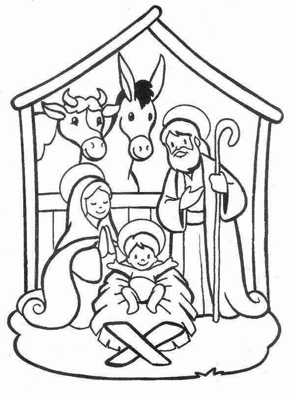 Nativity Coloring Pages Coloring Kids
