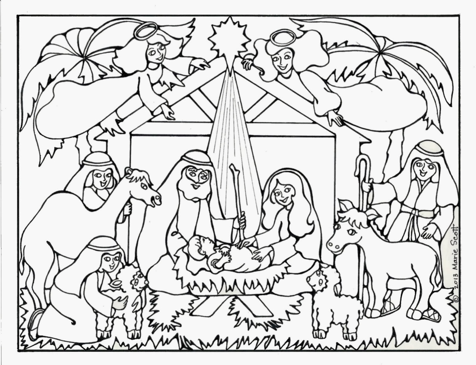 Jesus Is Born Coloring Pages Nativity Coloring Pages  Coloring Kids