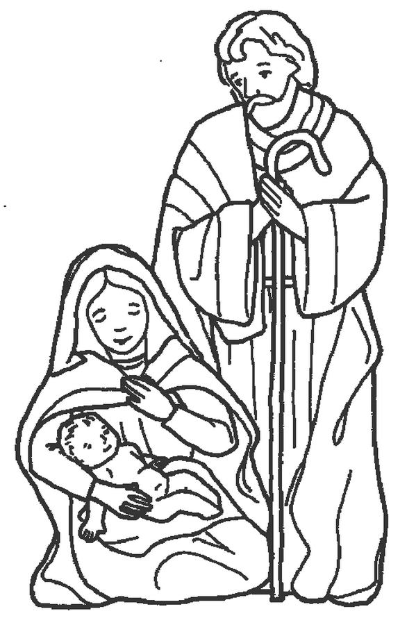 Nativity Coloring Pages Coloring