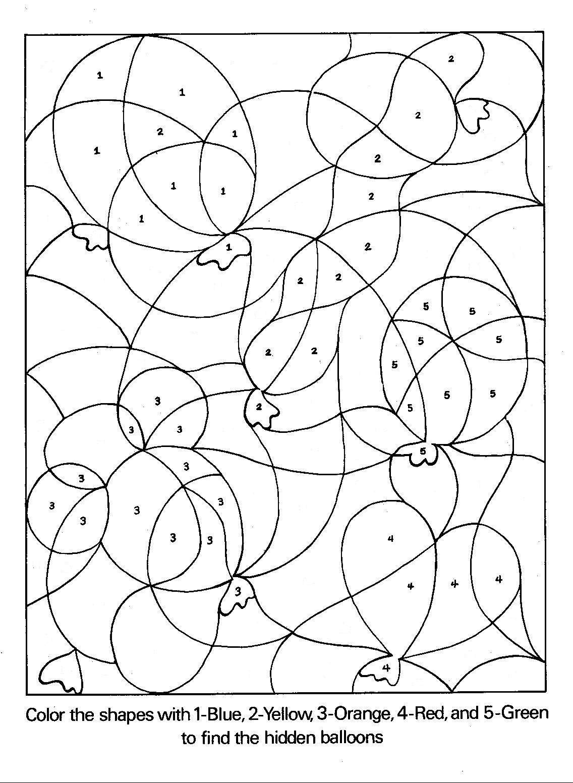 Number Coloring Pages 5 Coloring