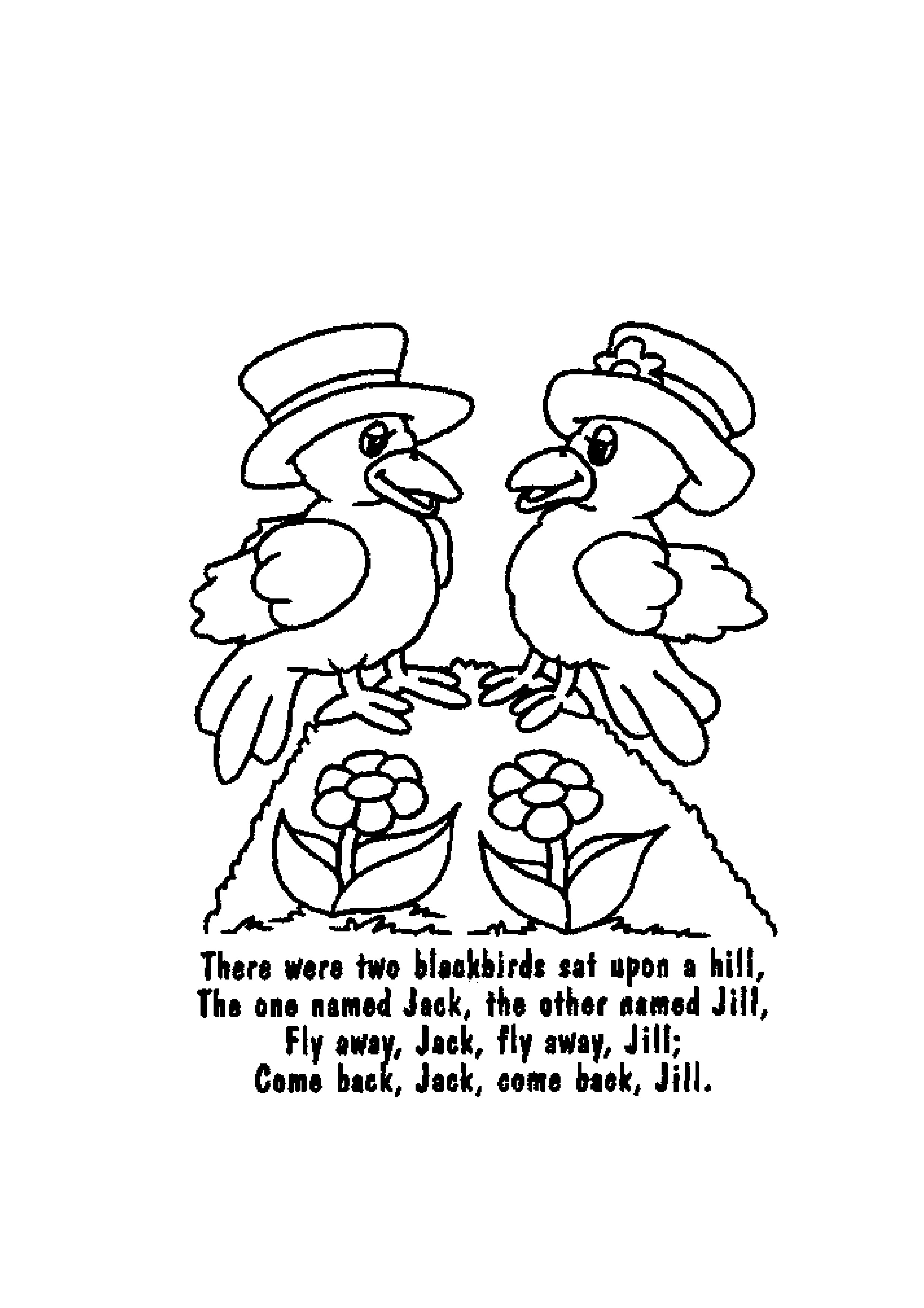 free coloring pages nursery rhymes - photo#26