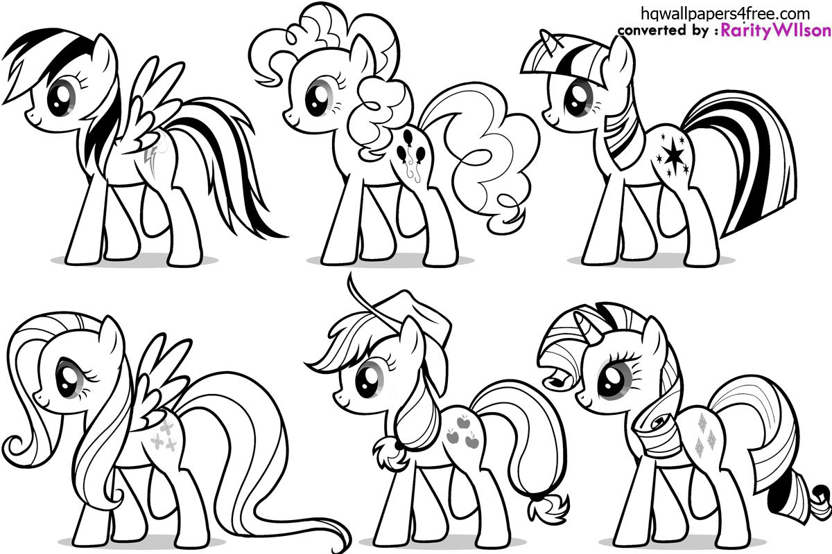 download my little pony coloring pages - Pony Coloring Pages