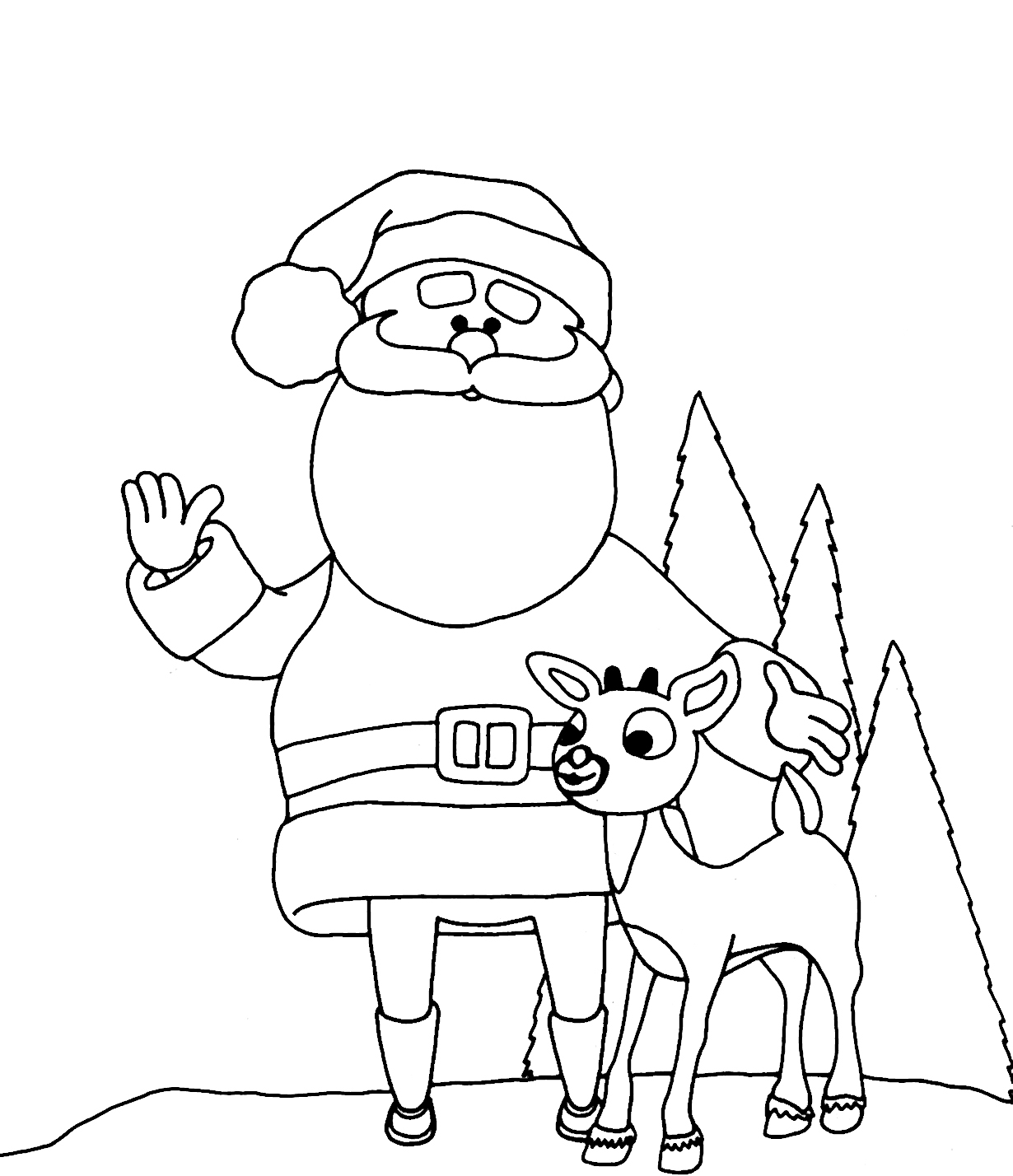 Reindeer Coloring Pages