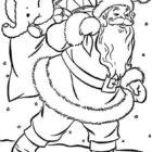 Santa-Christmas-Coloring-Page