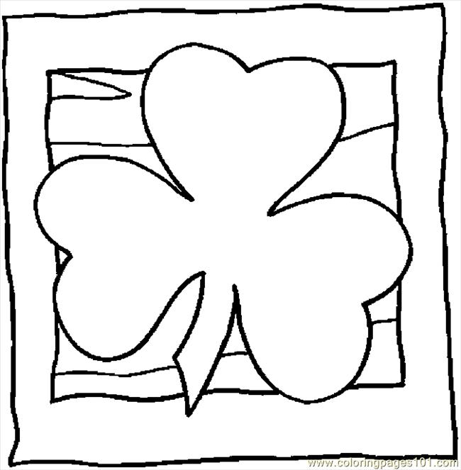 Shamrock Coloring Pages | Coloring Kids