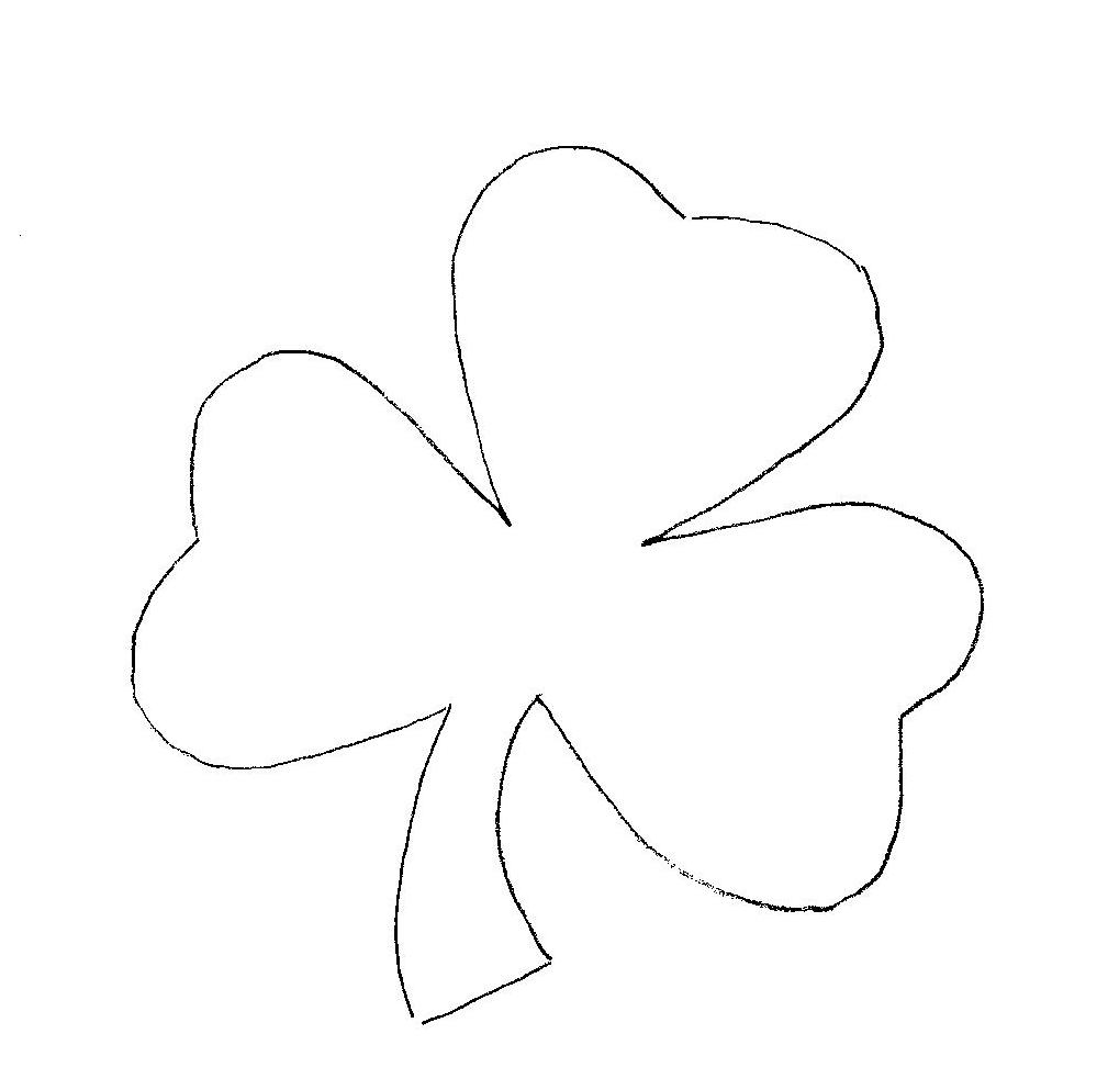 shamrock coloring pages - Shamrock Coloring Page