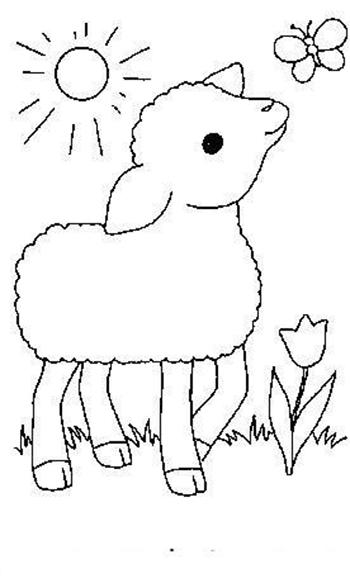 Sheep-coloring-page-9