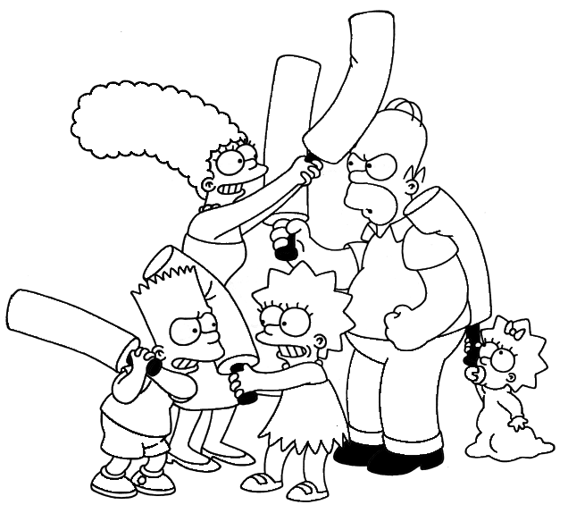 simpsons coloring pages - Simpsons Halloween Coloring Pages