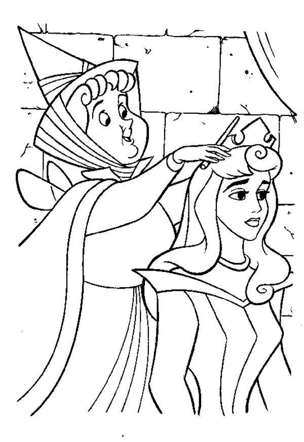 download sleeping beauty coloring pages 1 - Sleeping Beauty Coloring Pages