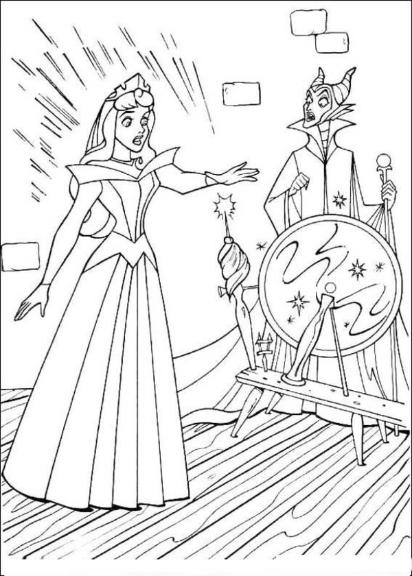 Sleeping Beauty Coloring Pages (2) | Coloring Kids