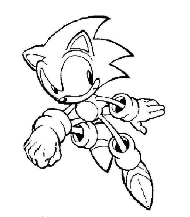 download sonic coloring pages 2