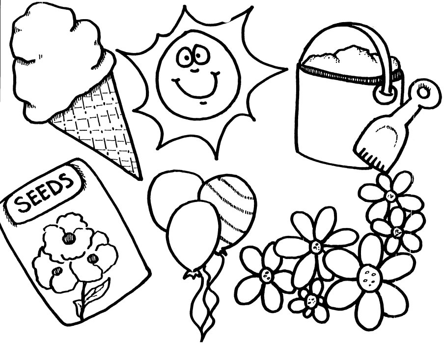 Spring Coloring Pages Spring Coloring Pages  Coloring Kids