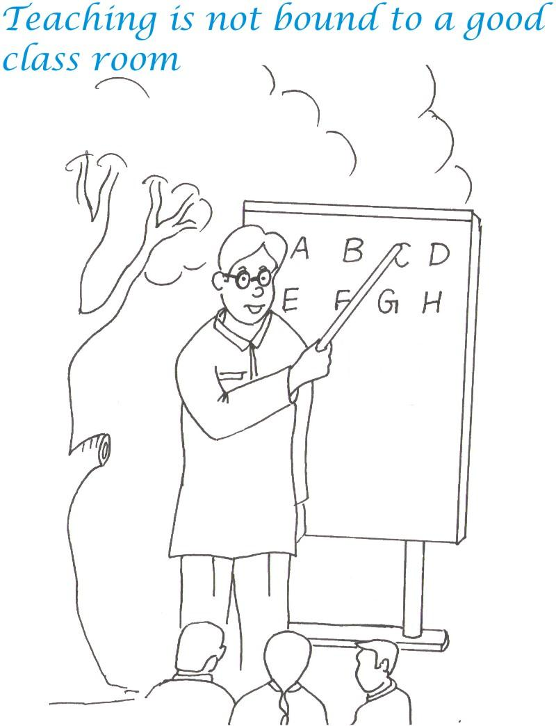 Teacher\'s Day Coloring pages | Coloring Kids