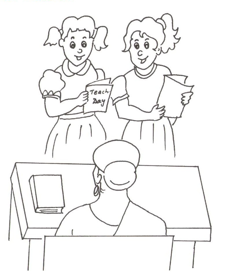 Teacher\'s Day Coloring pages - Coloring Kids