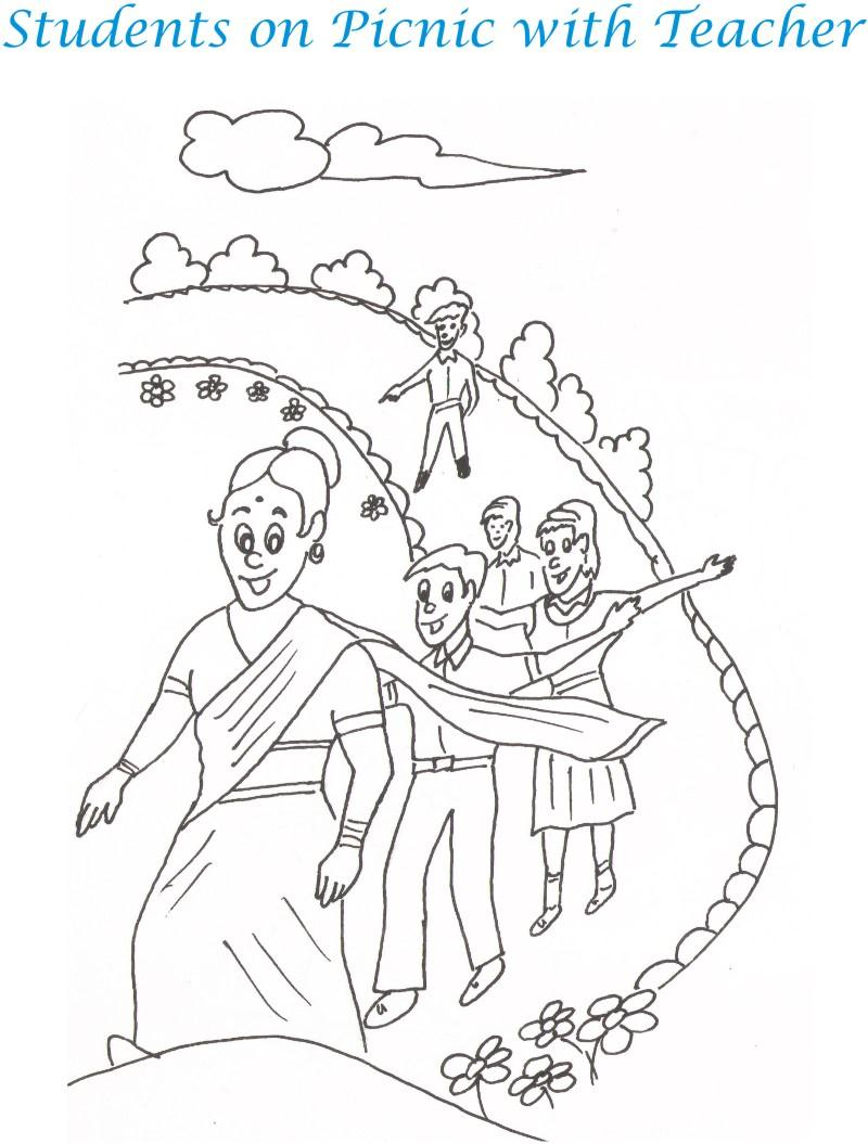 Childrens day colouring pages - Teacher S Day Coloring Pages