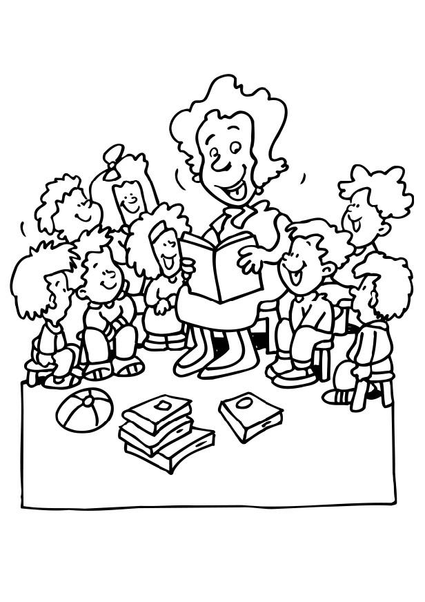 Teachers Day Coloring pages Coloring Kids