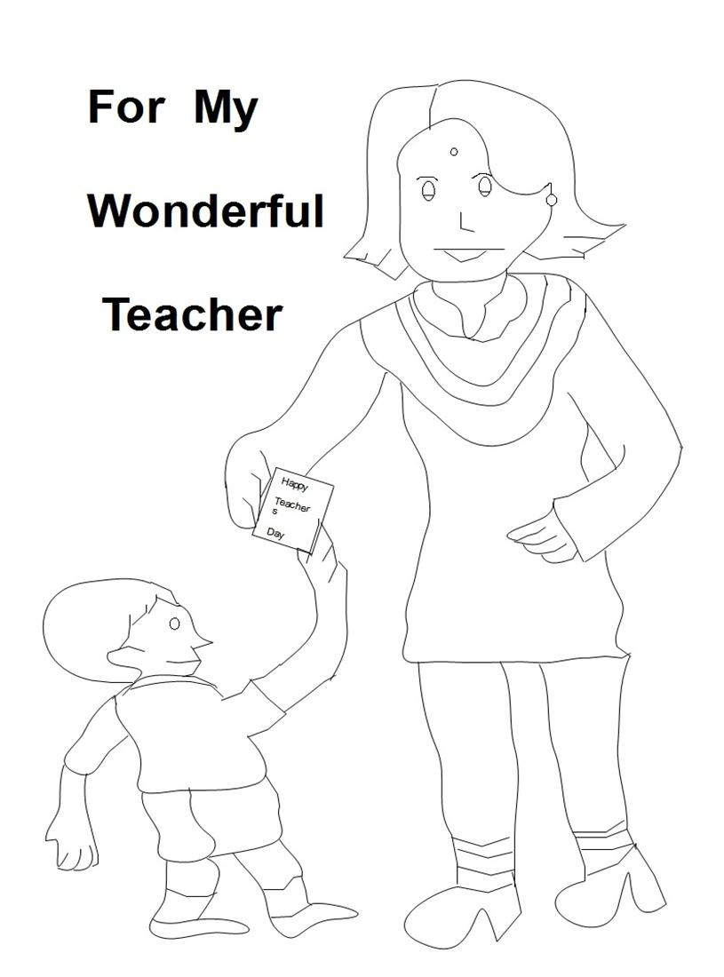 Uncategorized Teachers Day Coloring Pages teachers day coloring pages kids pages