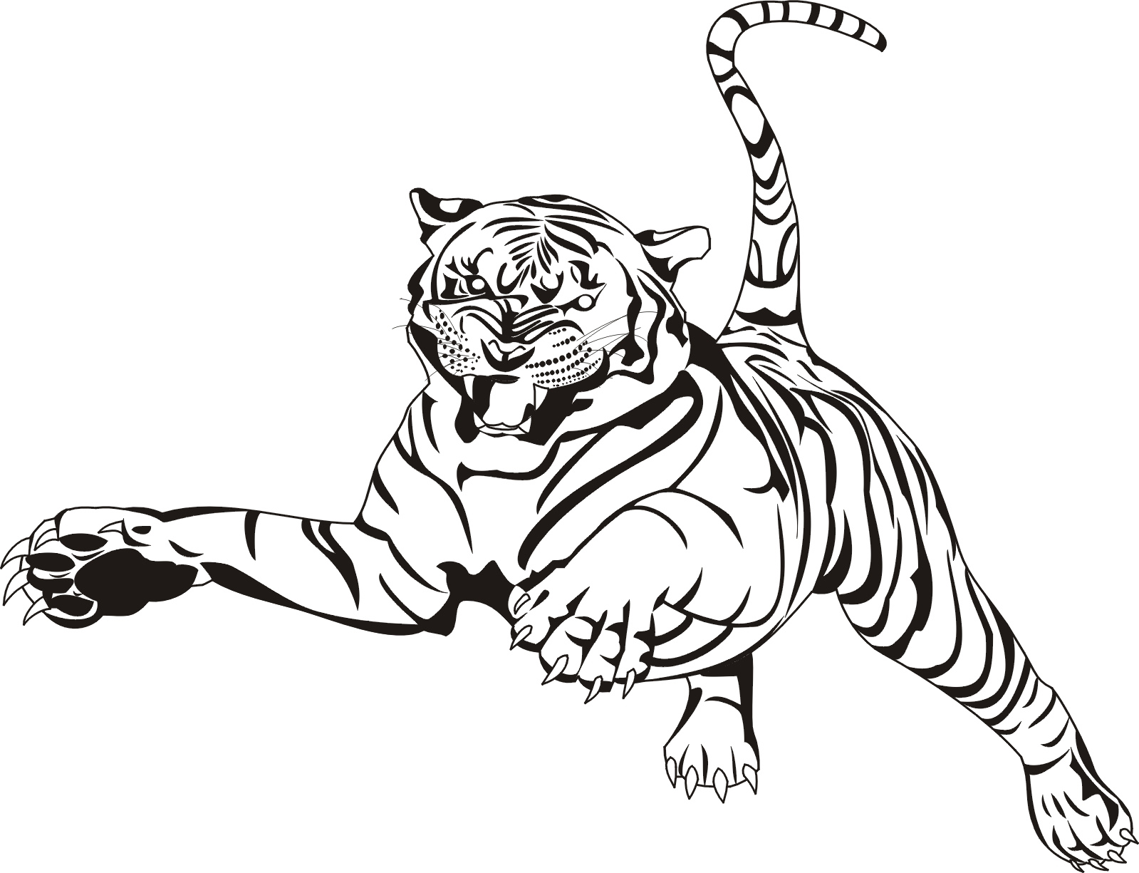 Advanced Tiger Coloring Pages : Tigers coloring pages kids