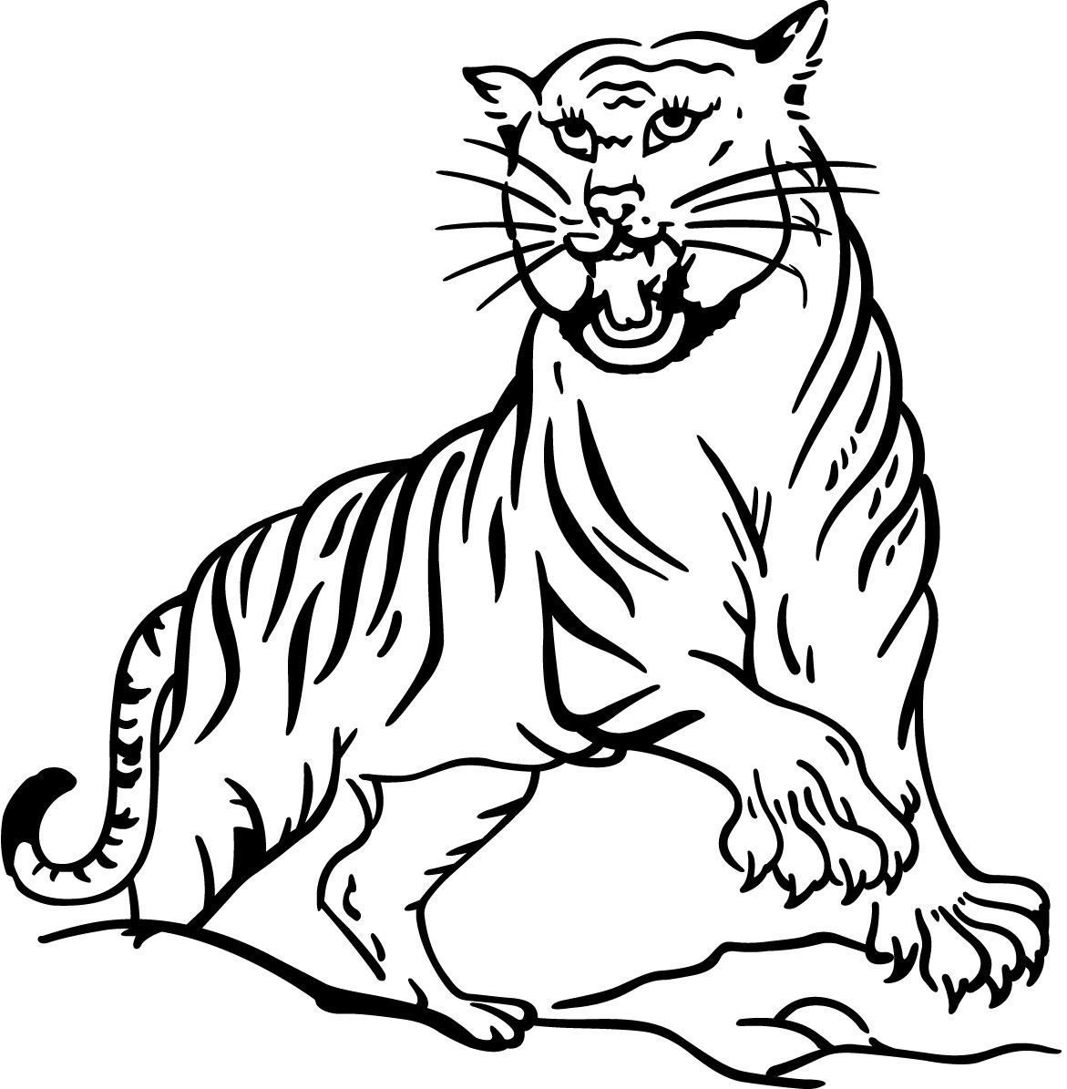 Tigers Coloring Pages | Coloring Kids