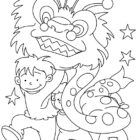 Young Children Celebrate Chinese New Year Coloring Pages ...