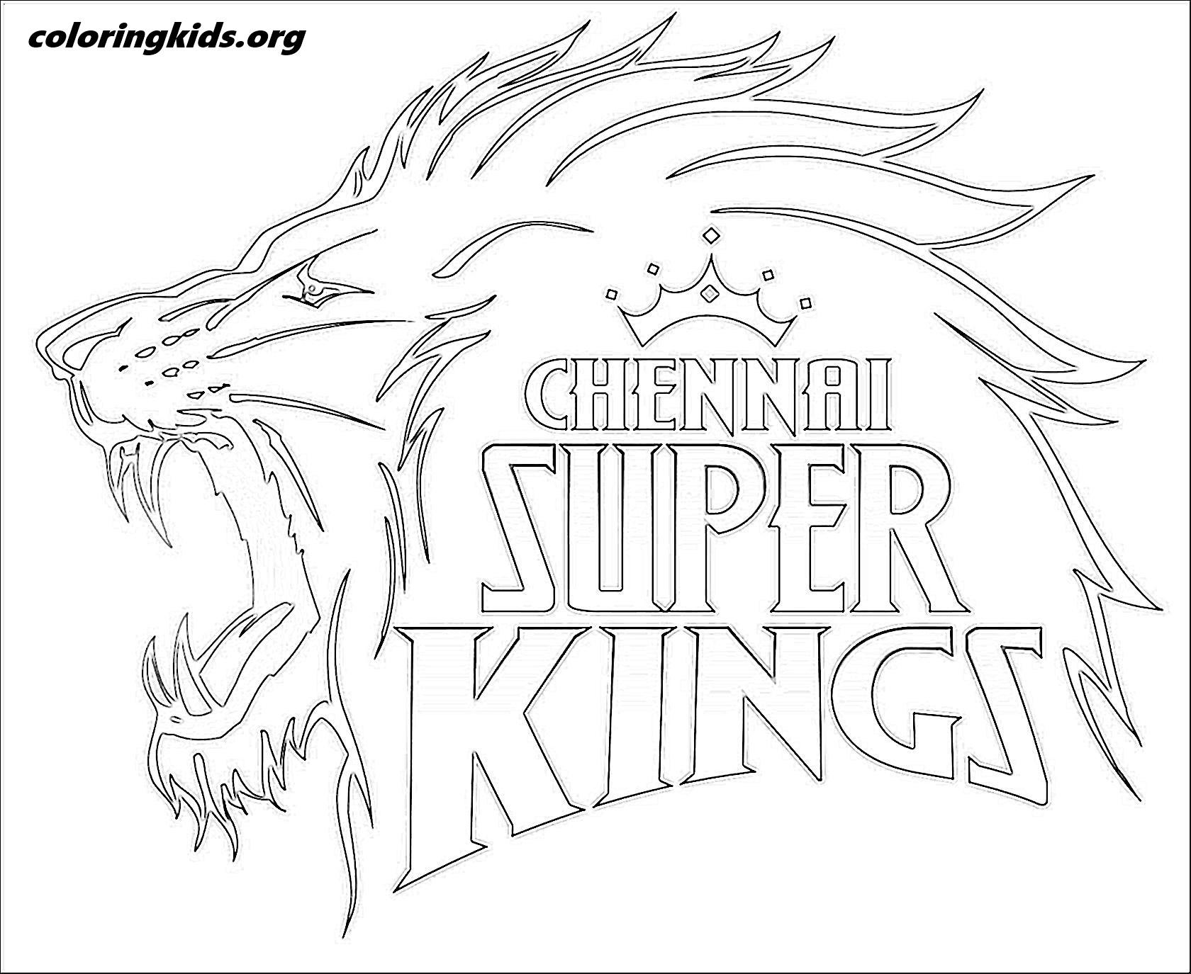 Chennai Super Kings Logo Coloring Kids