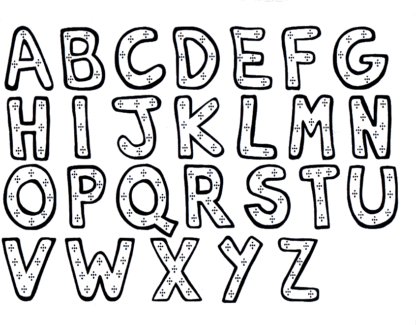 Alphabet Coloring Pages Az Awesome Alphabet Coloring Pages 2  Coloring Kids Design Decoration