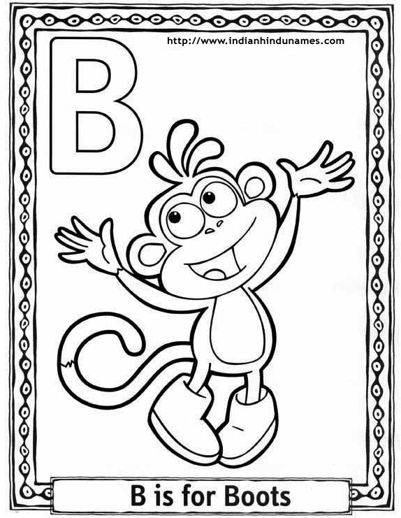 preschool alphabet letter coloring pages letter coloring pages 6 - Letter Coloring Pages Printable