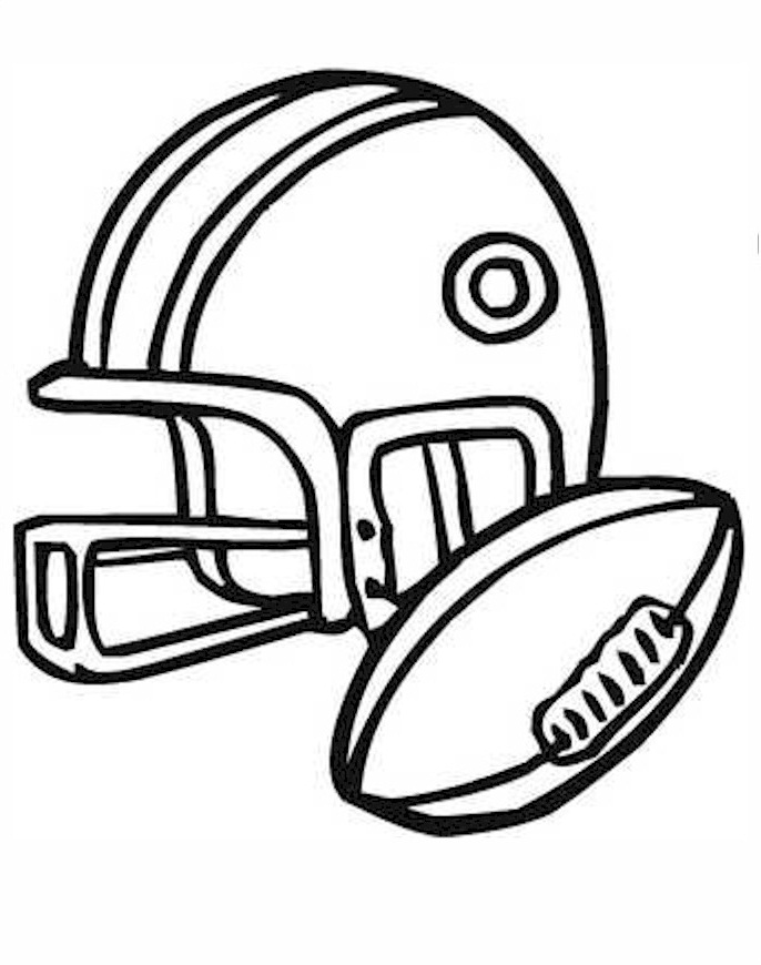 american football coloring pages 1 - Football Printable Coloring Pages