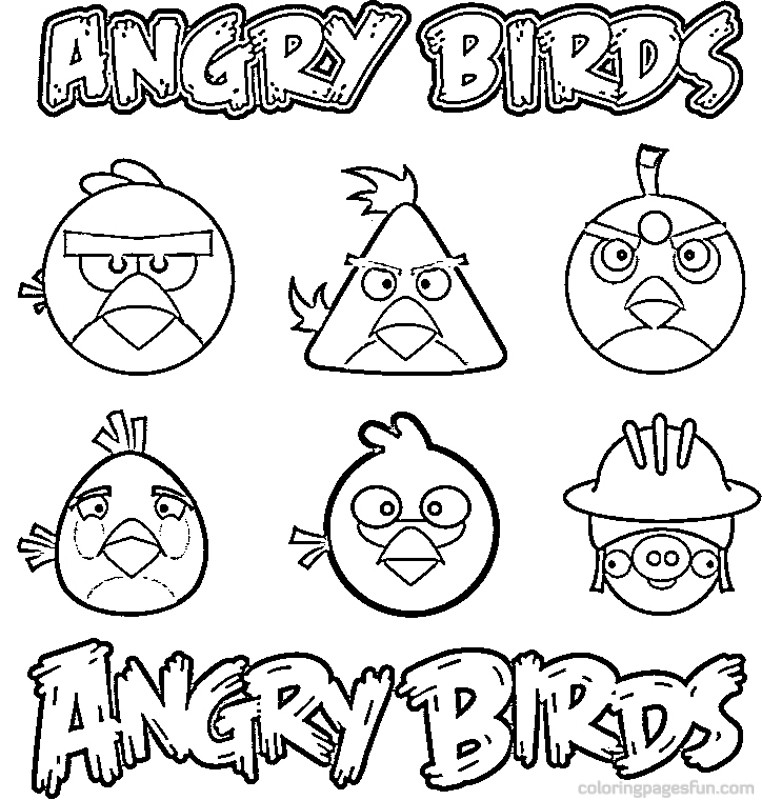 Angry Birds Coloring Pages (8) | Coloring Kids